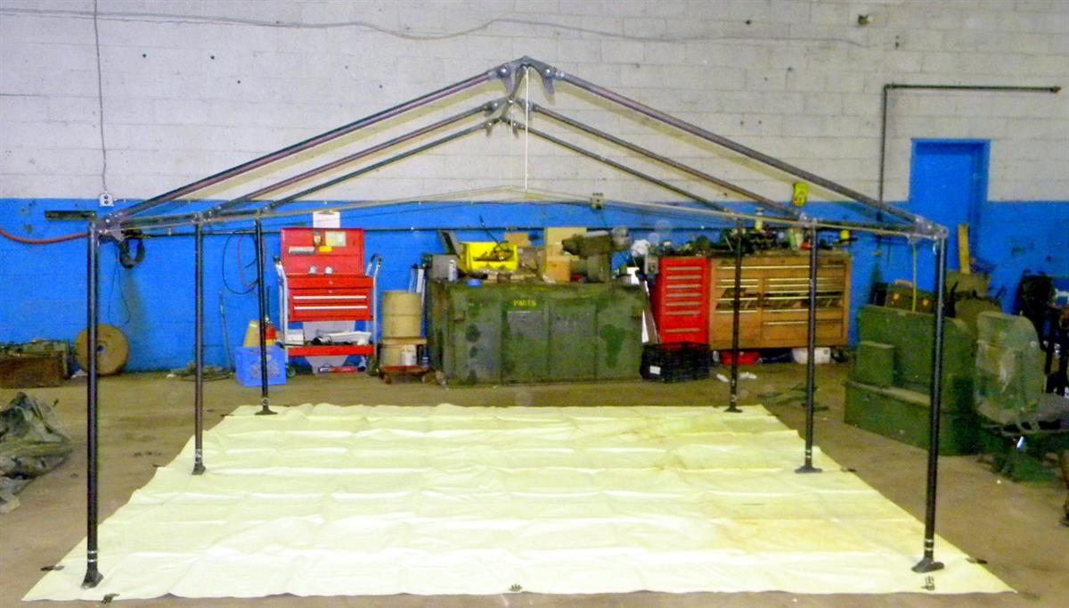 SP-1501 | 5410-01-334-2341 Tent Frame 11 Feet by 11 Feet by 7 Feet for Modular Command Post System MCPS. USED.JPG
