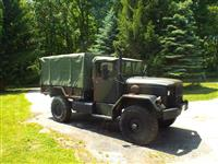 AM General M35A2.  Bobbed with M105 trailer body