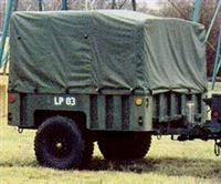 TR-202 | Soft Top Vinyl Green Cargo Cover and Bow Kit for M1101 and M1102 Trailer. NOS (9).jpg