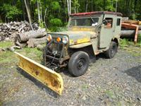 Jeep CJ3B w/ Hydraulic Plow as-is