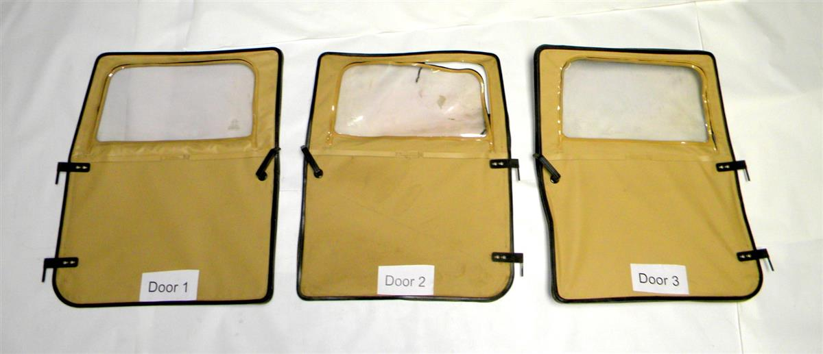 HM-646 | Front Right and Left, Tan Sopt Top Doors for HMMWV  and a quarter ton. USED (4).JPG