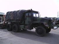 M817 6 x 6, 5-Ton Dump Truck w/ Winch & Bed Cover