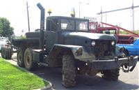 M818 5th Wheel Tractor w/ Winch and Flatbed Trailer