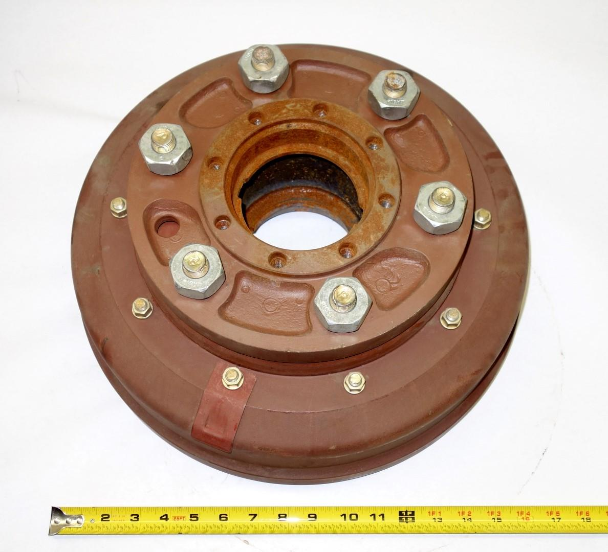 M35-663 | 2530-00-193-8183 Front Right Side Hub and Drum Assembly for M35 M35A1 and M35A2 Series NOS (2).JPG