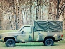 Green Vinyl Cargo Bed Cover for CUCV M1008 and M1008A1 1 /4 Ton