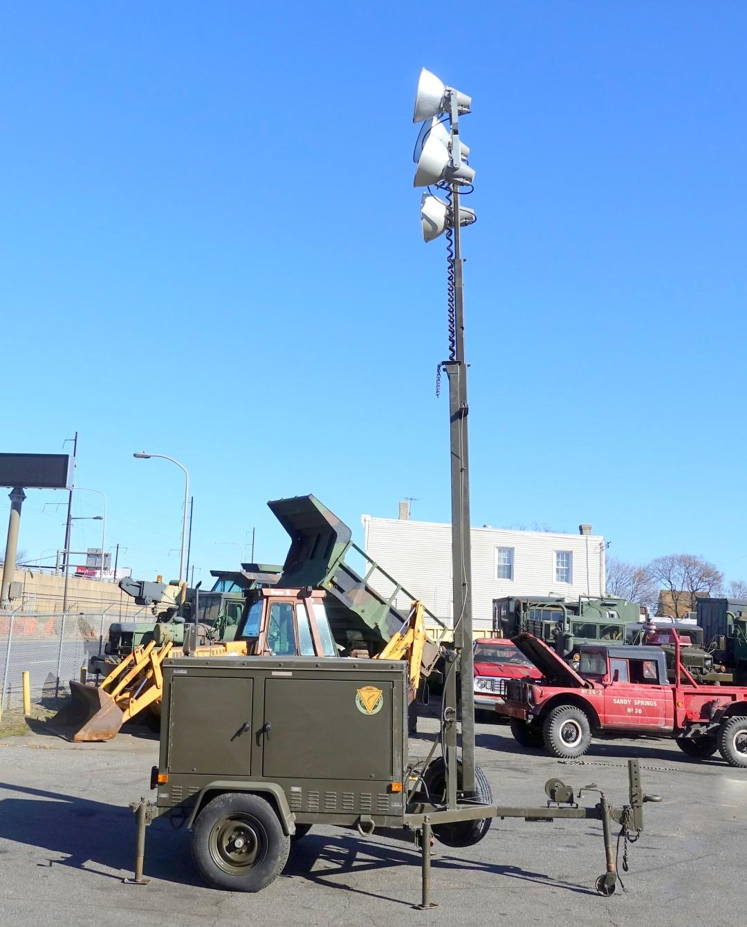 1990 Trailer Mounted 5 KW Towable Floodlight Tower With 4