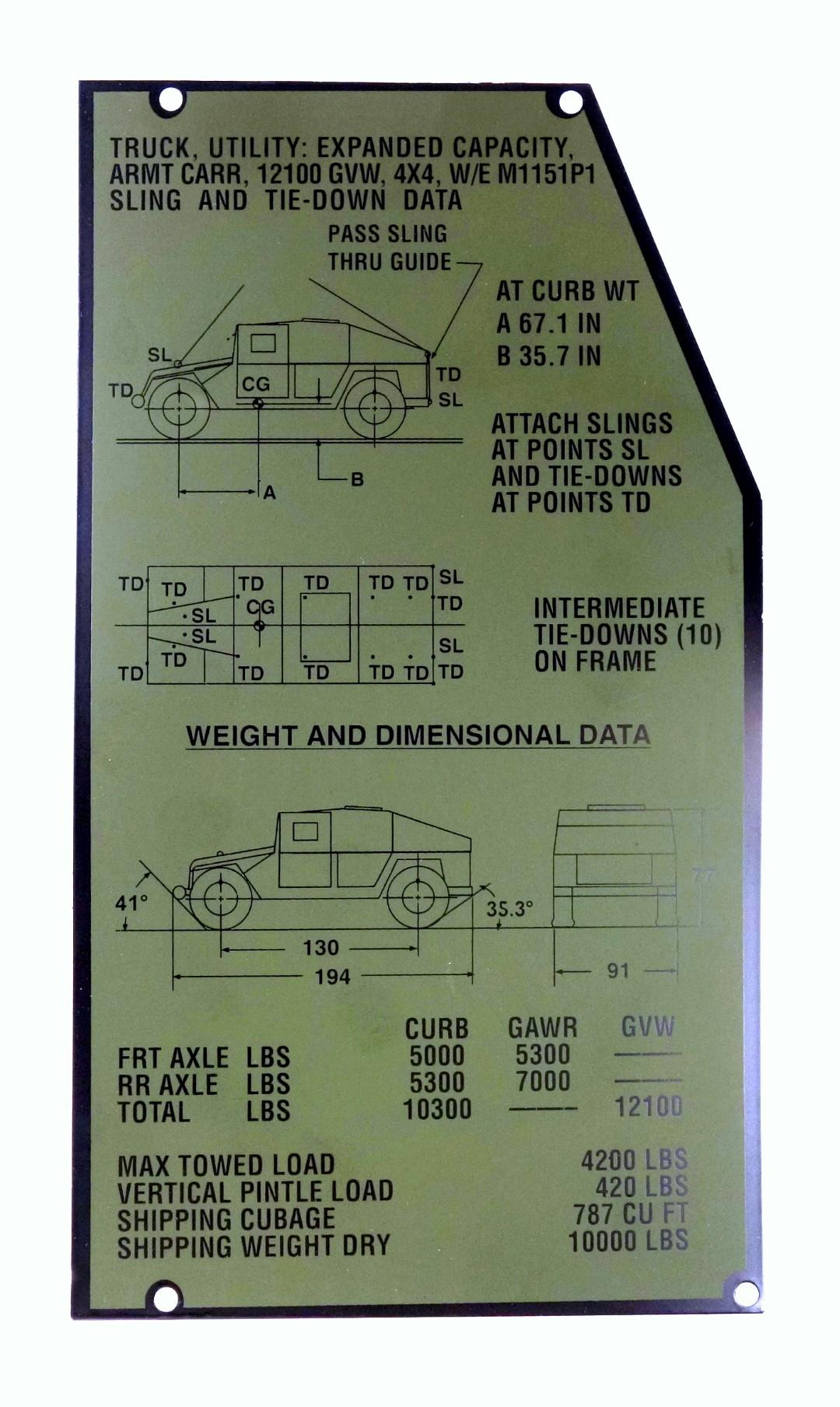 Wiring Clarion Diagram Radio Pu 9904aclarion Hmmwv Schematic Cropped 9905 01 555 2895 Data Tag Instruction Plate 3 M1123