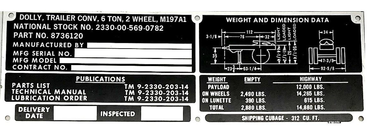 DT-558 | DT-558 M197A1 Dolly Trailer Data Tag (4).jpg