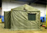 SP-1500 | 5410-01-323-2454 Tent, Green Vinyl 11x11 for Modular Command Post System MCPS (10).JPG