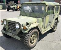 M151A2 Hard Top Jeep AM General MUTT with ROPS and M416 1/4 ton trailer