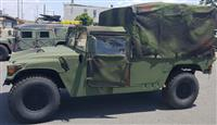 M998 Two Man HMMWV with Soft Top and Rear Cover - Green