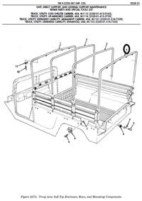 HM-1176 | HM-1176  Rear Bow Cargo Area for HMMWV 2 Man Troop Carrier Bed.jpg