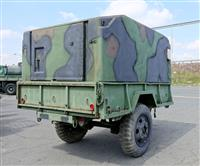 M103A3 2 Wheel 1 1/2 Ton Trailer with Fiberglass Shelter / Hardtop