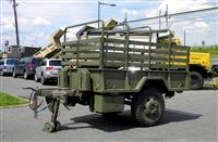 M105A2 Two Wheel Cargo Trailer 1 1/2 Ton