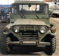 M151A2 MUTT AM General Jeep MUTT with ROPS and M416 1/4 ton trailer