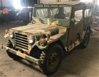 M151A2 Jeep MUTT AM General with Gun Mount and M416 1/4 ton trailer