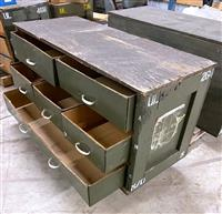 SP-2659 | SP-2659 Military Wooden Parts Chest With Drawers (6).jpg