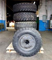 TI-184 | TI-184  Goodyear Wrangler RT II 36x12.5-16.5LT. Lot sale of 6 used tires on 8 hole rim (1).JPG