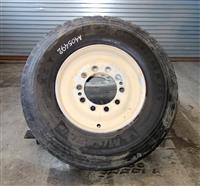 TI-208 | TI-208  Michelin XZY3 38565R22.5 Tire Mounted on 10 Hole Bud Style Rim (Lot Sale of 2 Tires) (4).JPG